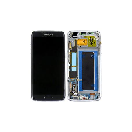 bloc écran pour samsung galaxy s7 edge (sm-g935f) - noir + forfait